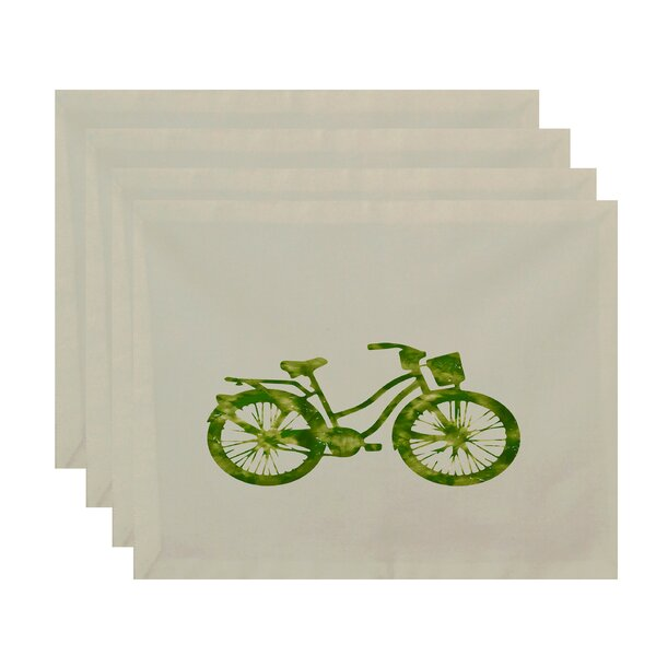 Golden Beach Life Cycle Geometric Placemat (Set of 4) by Bay Isle Home