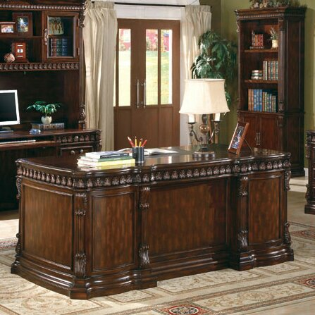 Fast Drawers Executive Desk by Astoria Grand