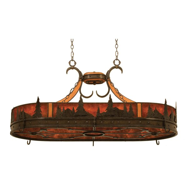 Aspen Hanging Pot Rack with 6 Light  by Kalco