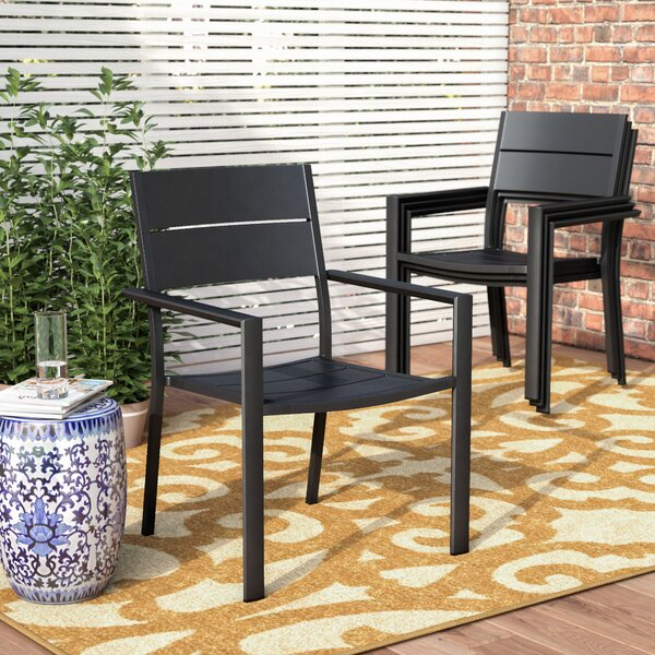 Hillsdale Stacking Patio Dining Chair (Set of 4) by Rosecliff Heights Rosecliff Heights