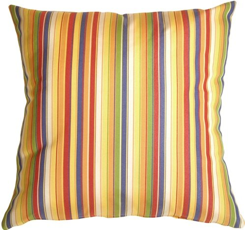 Ossian Stripes Indoor/Outdoor Sunbrella Throw Pillow by Latitude Run