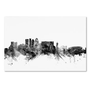 'Cape Town S Africa Skyline' Graphic Art on Wrapped Canvas by Ivy Bronx