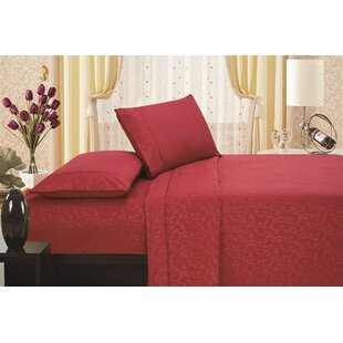 Fedor Printed Flower Embossed Sheet Set By Astoria Grand
