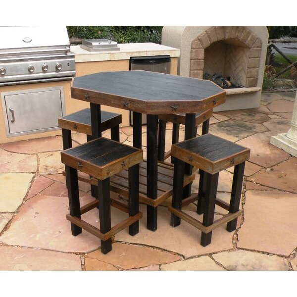 Gaudreau 5 Piece Bar Height Dining Set by Loon Peak
