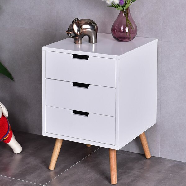 Rehoboth 3 Drawers Mid-Century End Table with Storage by George Oliver