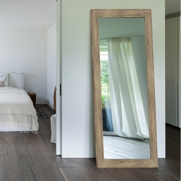 Areli Weathered Sand Barnwood Wall Mirror by Mistana