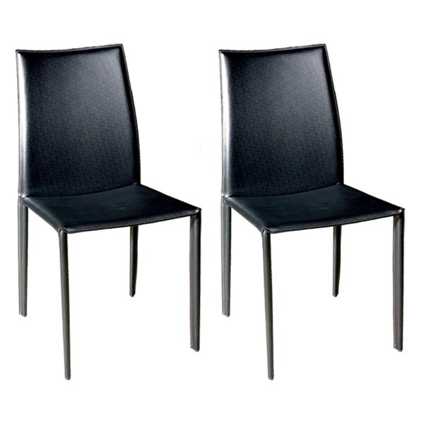 Miranda Upholstered Dining Chair (Set of 2) by Wade Logan Wade Logan