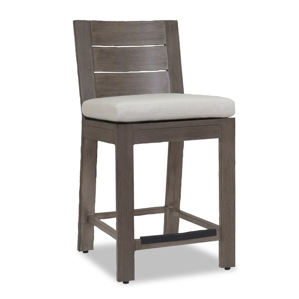 Laguna Flax 44-inch Patio Bar Stool with Cushion by Sunset West Sunset West