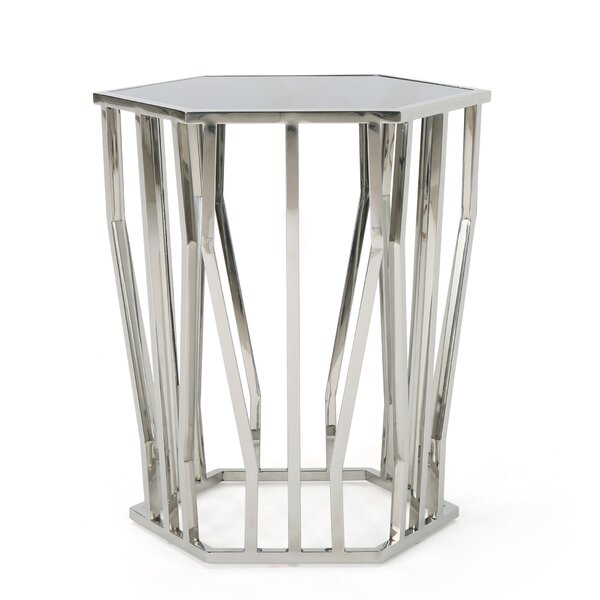 Neven Modern End Table by Orren Ellis