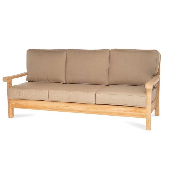 Chasity Teak Patio Sofa with Sunbrella Cushion by August Grove