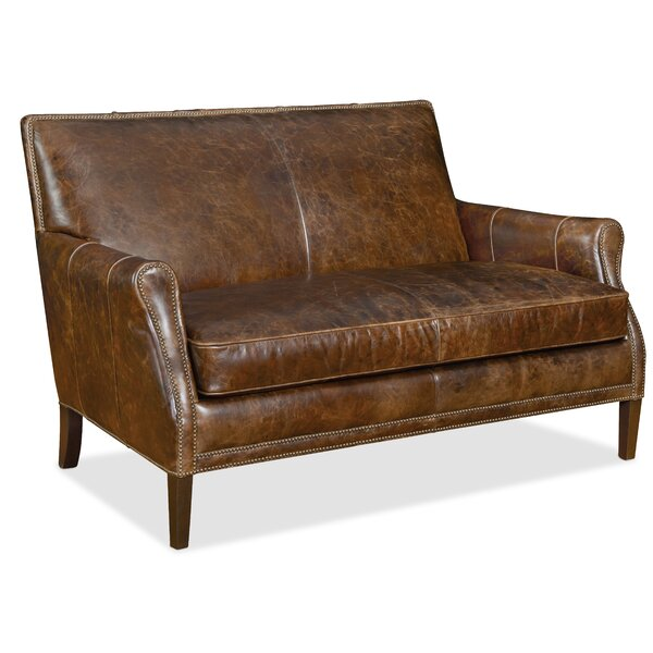 Leith Leather Settee by Hooker Furniture