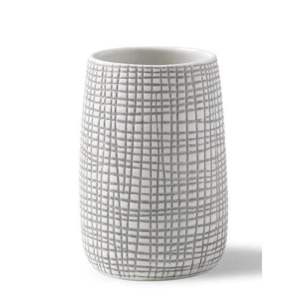 Bertaux Embossed Porcelain Tumbler by Bloomsbury Market