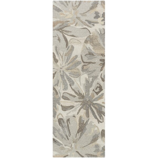 Scarberry Handmade Tufted Wool Taupe Area Rug