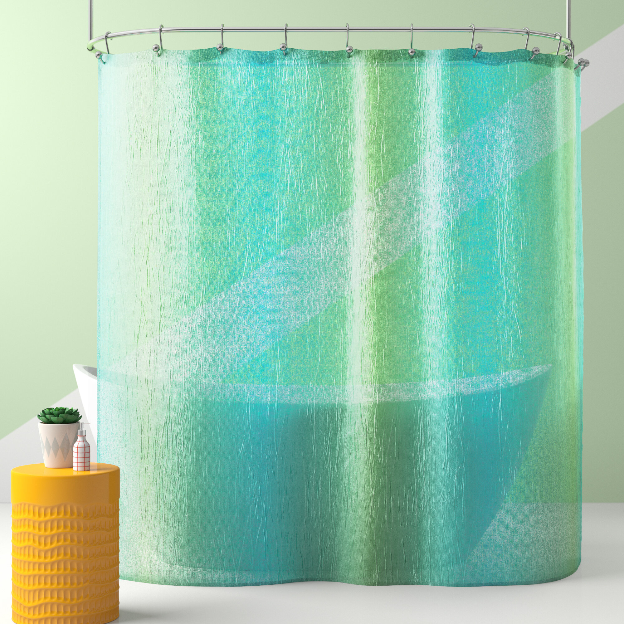 Raymond Striped Single Shower Curtain
