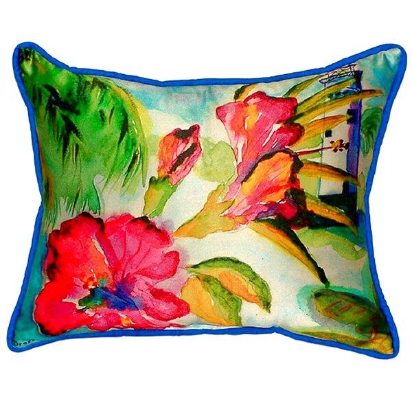 Lighthouse and Florals Indoor/Outdoor Lumbar Pillow