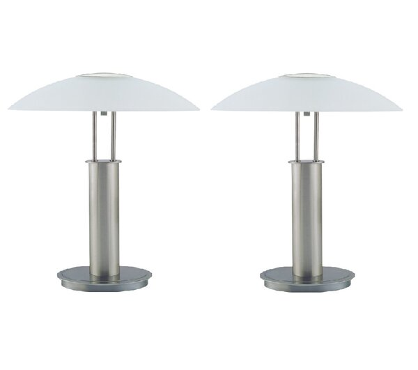Joeseline Touch 18.75 Table Lamp (Set of 2) by Latitude Run