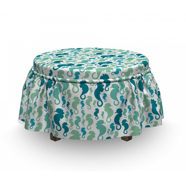 Sea Horse Ottoman Slipcover (Set Of 2) By East Urban Home