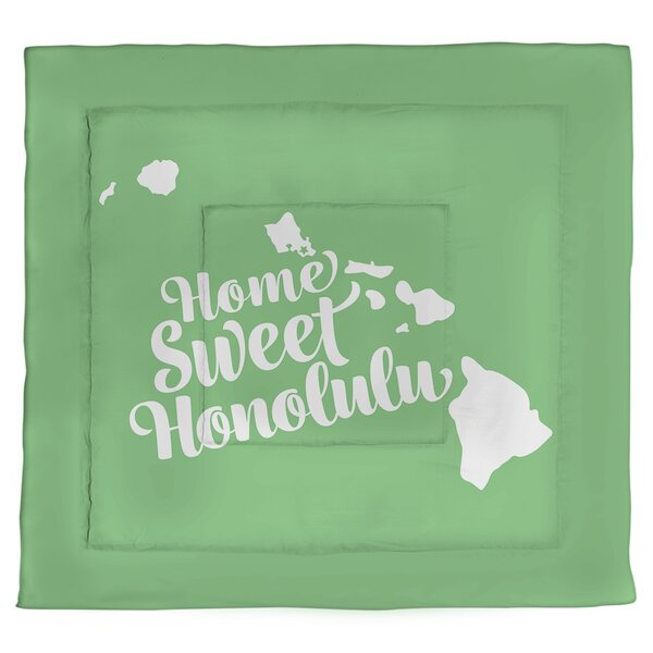 Honolulu Hawaii Single Reversible Comforter