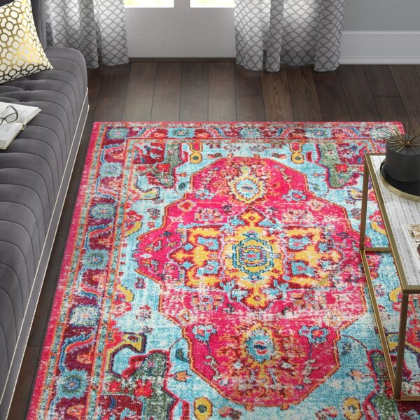 Aliyah Pink Area Rug by Willa Arlo Interiors