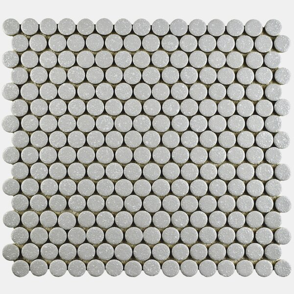 Penny Minerva 12 x 12.63 Porcelain Mosaic Floor and Wall Tile in Gray by EliteTile