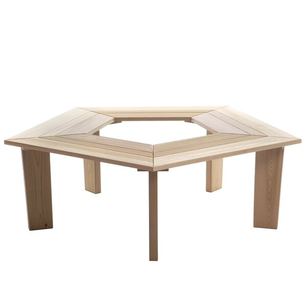 5 Sided Wood Tree Bench by All Things Cedar