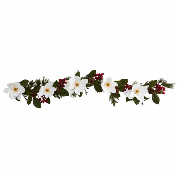 Magnolia Pine and Berries Artificial Garland by The Holiday Aisle