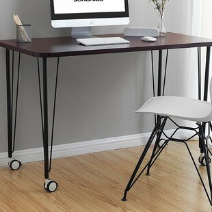 Laskowski Mobile Writing Desk with Thickened Tabletop