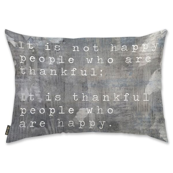 Happy People Lumbar Pillow by Mercury Row