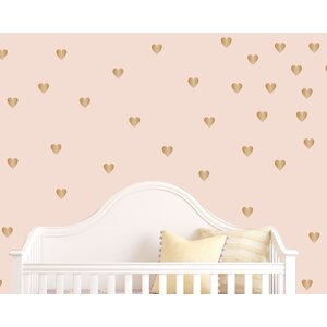 Gold Heart Wall Decal (Set of 50)