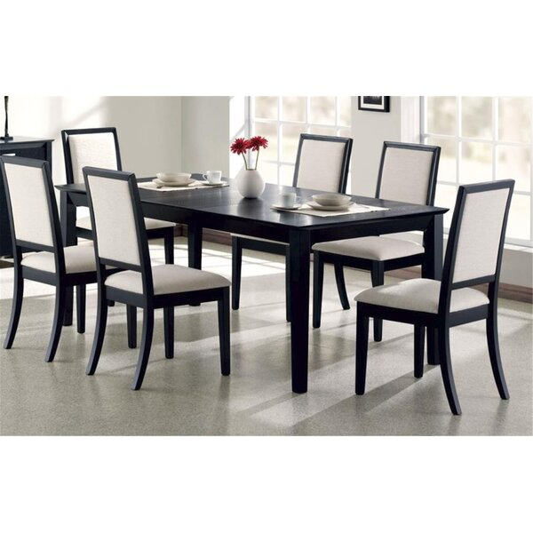 Bucareli 7 Piece Solid Wood Dining Set by Latitude Run