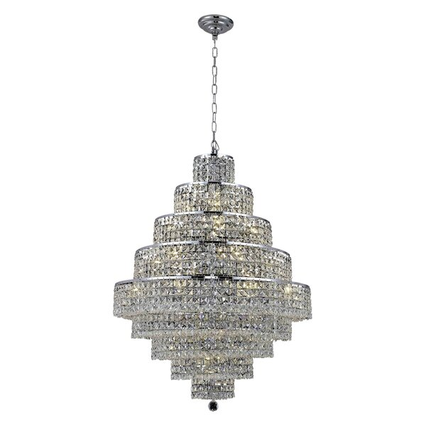Springdale 20-Light Crystal Chandelier by Everly Quinn