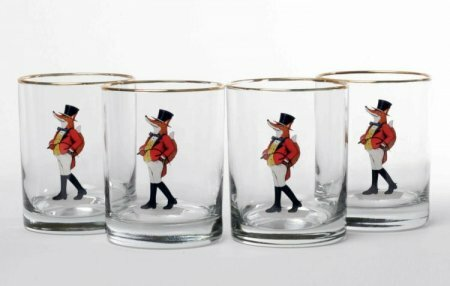 Snooty Fox Double 14 Oz. Old Fashioned Glass (Set of 4) by Richard E. Bishop