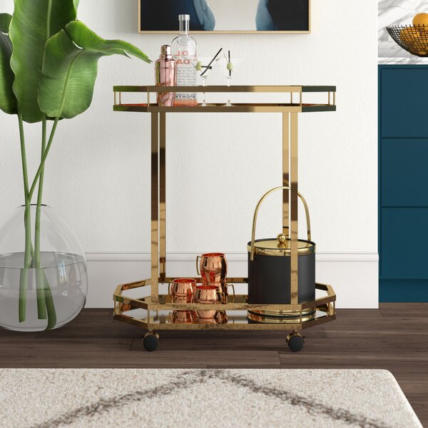 Deschenes Bar Cart by Mercury Row Mercury Row