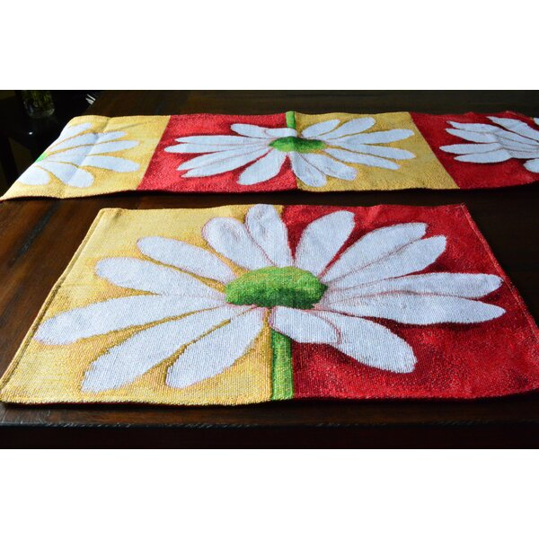 Loves Me Not Spring Decorative Placemat (Set of 4) by Tache Home Fashion