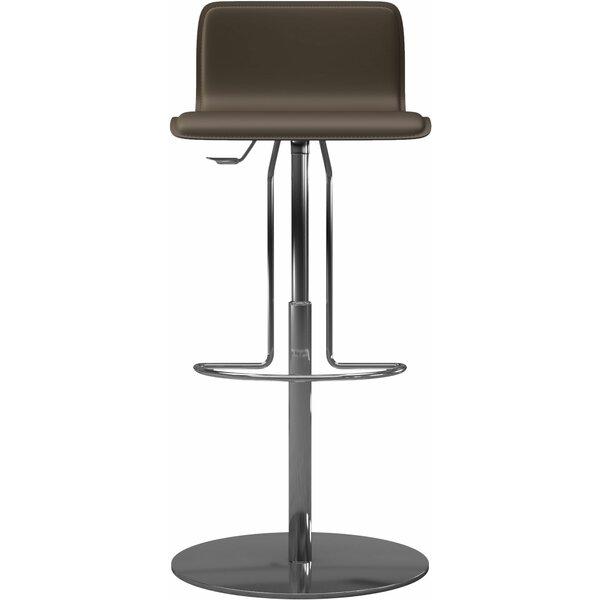 Prato Adjustable Height Bar Stool by Modloft