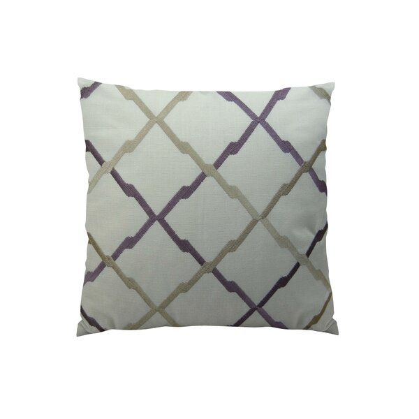 Lyford Purple/Taupe Throw Pillow by Plutus Brands