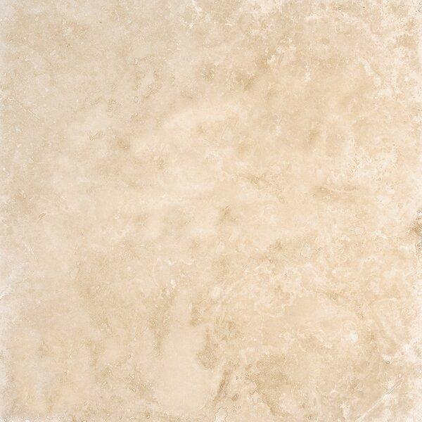 24 x 24 Travertine Field Tile in Light Walnut Honed by Parvatile