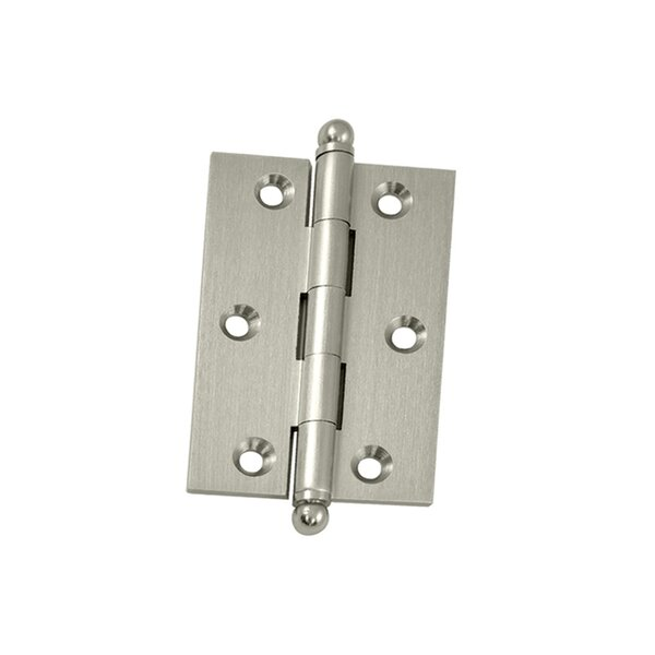 3 H x 2 W Butt/Ball Bearing Single Door Hinge by Deltana