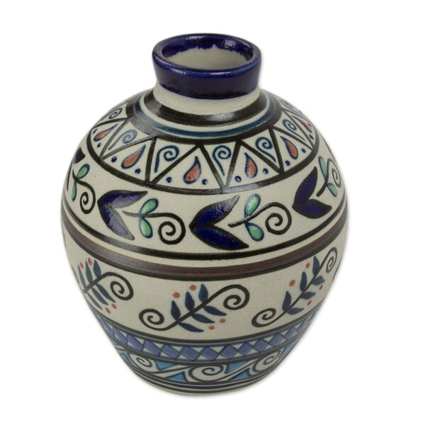 Commer Seeds and Harvest Ceramic Table Vase by World Menagerie