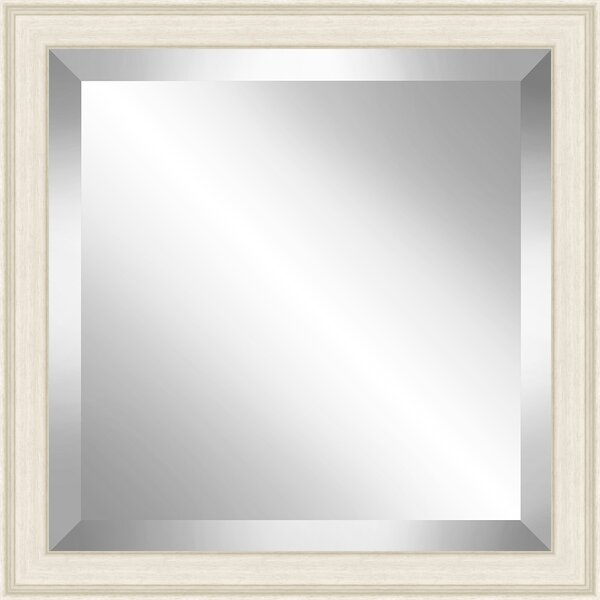Square Off White Grain Effect Beveled Plate Accent Mirror by Red Barrel Studio