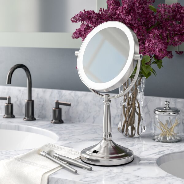 Cordless Dual-Sided LED Lighted Makeup/Shaving Mirror by Alcott Hill