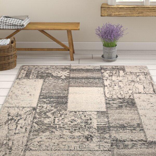 Kimes Gray / Charcoal Area Rug by Ophelia & Co.