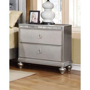 Compare Baxton Studio Uberto Wood Storage 2 Drawer Nightstand By Wholesale Interiors