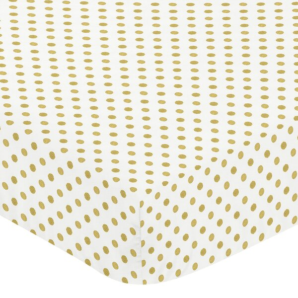 Big Bear Dot Print Fitted Crib Sheet by Sweet Jojo Designs
