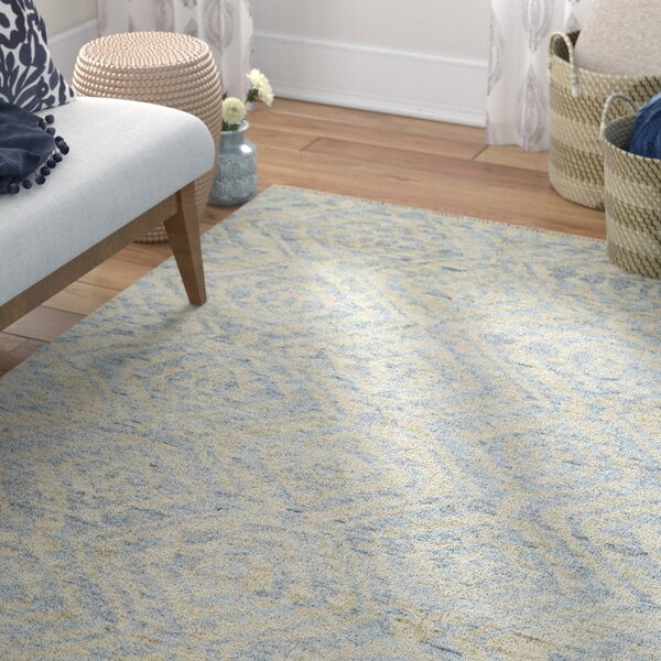 Leesburg Hand Woven Wool Mist Area Rug by Bungalow Rose