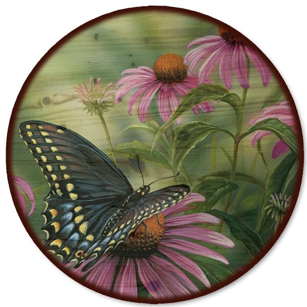 Black Swallowtail Butterfly Lazy Susan by WGI-GALLERY