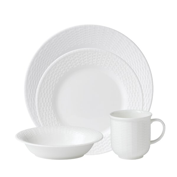 Nantucket Basket Bone China 4 Piece Place Setting, Service for 1 by Wedgwood