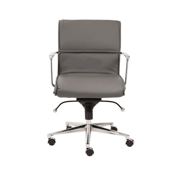 Keever Contemporary Metal Desk Chair by Wrought Studio