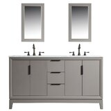 Tappahannock 60 Double Bathroom Vanity Set with Mirror by Ivy Bronx