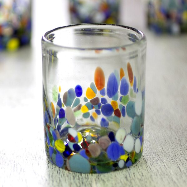 Forestburgh Confetti Festival Blown Juice Glass (Set of 6) by Latitude Run